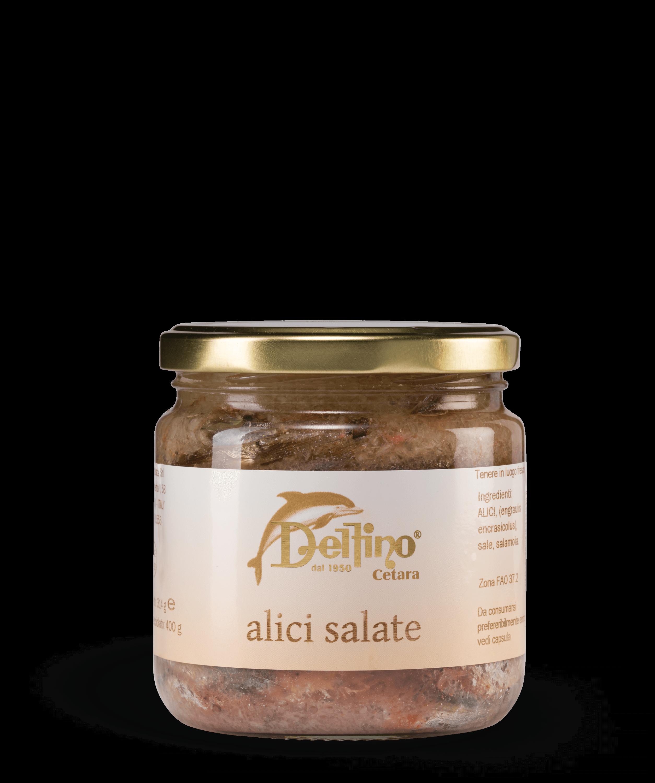 Alici Salate di Cetara Linea Mare Delfino Battista