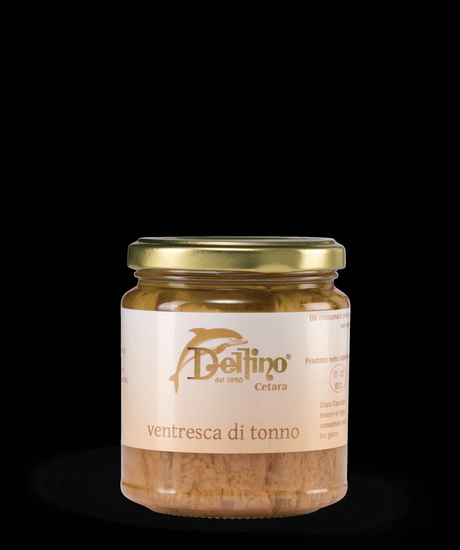 Ventresca di Tonno in olio d'oliva - Linea Mare Delfino Battista - Specialità Cetaresi dal 1950