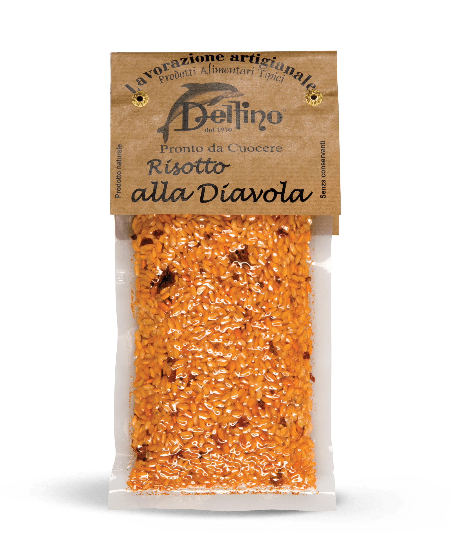 Risotto alla Diavola pronto da cuocere - Linea Terra Delfino Battista