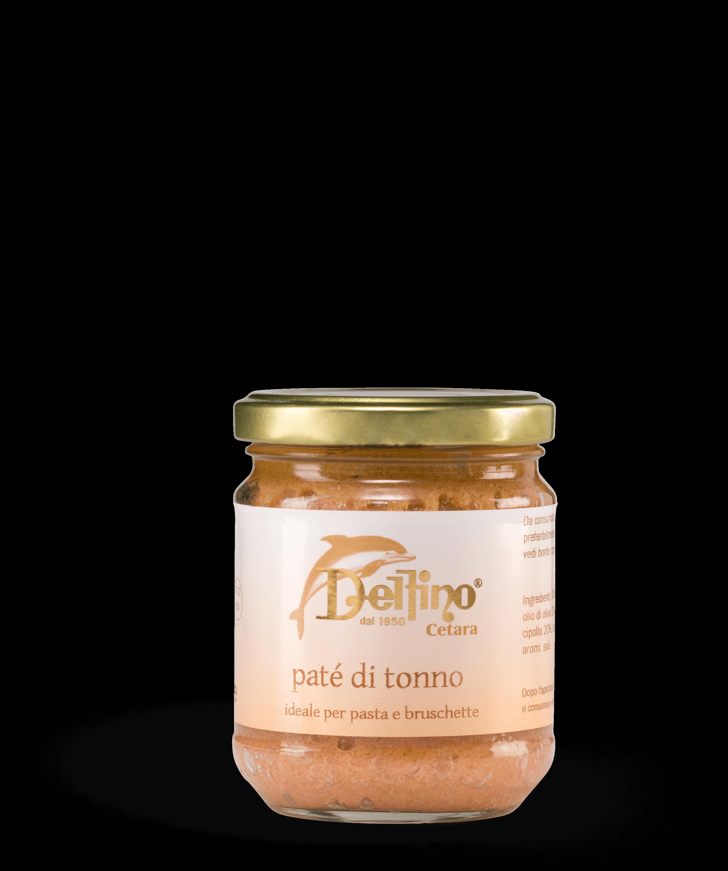 Patè di tonno ideale per condire la pasta o le bruschette. Linea Creme Spalmabili & Sughi Pronti Delfino Battista