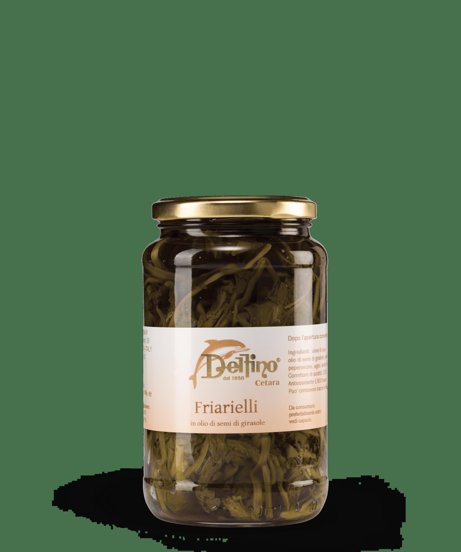 Friarielli: Broccoli e cime di rapa in olio di semi di girasole - Linea Terra - Delfino Battista