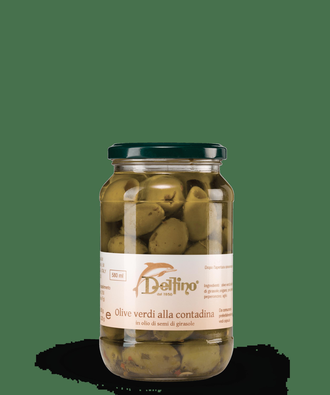 Olive verdi alla contadina - Linea Terra - Delfino Battista
