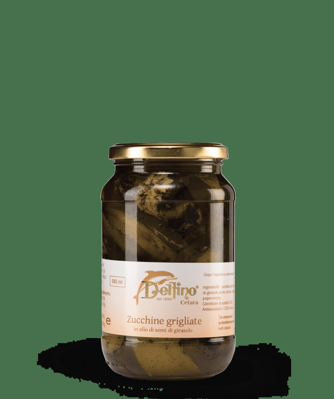 Zucchine grigliate in olio di semi di girasole - Linea Terra - Delfino Battista