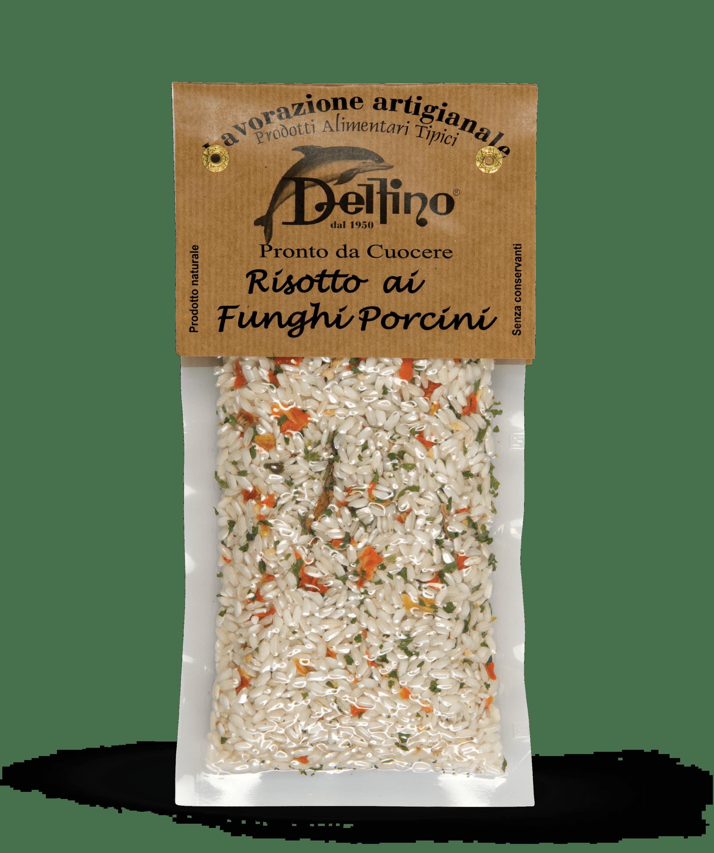 Risotto ai funghi porcini pronto da cuocere - Linea Terra Delfino Battista